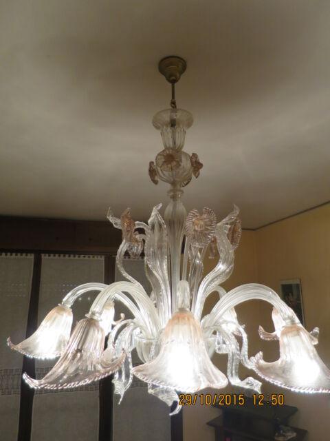 2 lampadari di murano +1 capodimonte