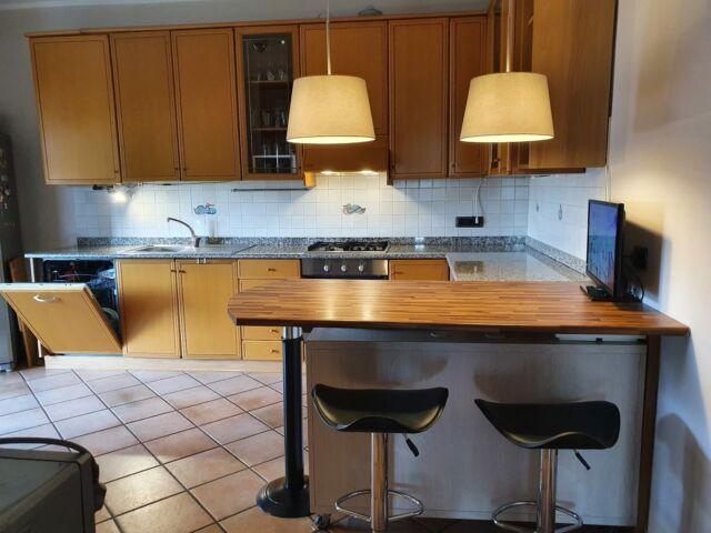 Cucina mobile angoliera stufa forno piano cottura 🥇 ...