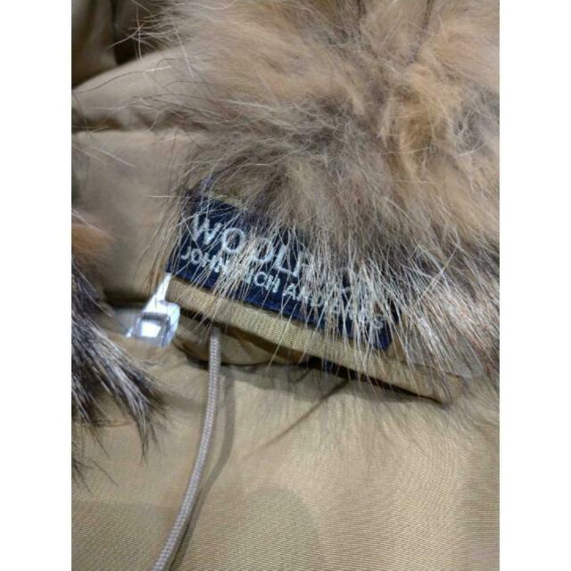 Piumino uomo woolrich cammello con cappuccio