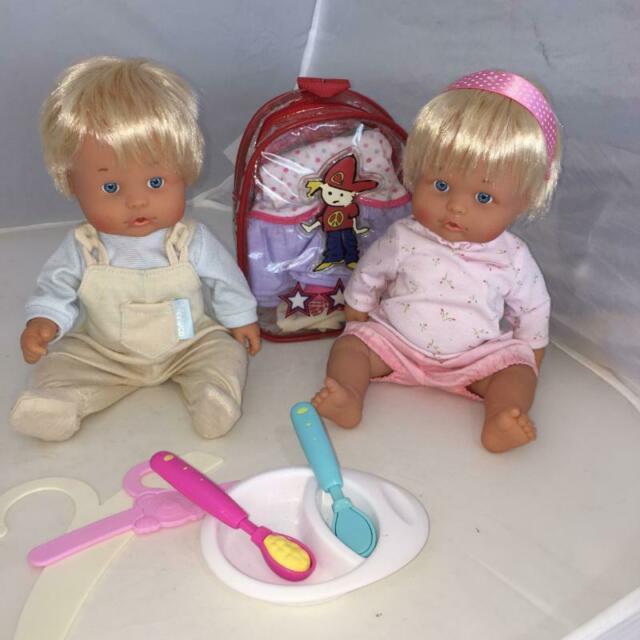 Bambola nenuco fratello e sorella con tutti accessori