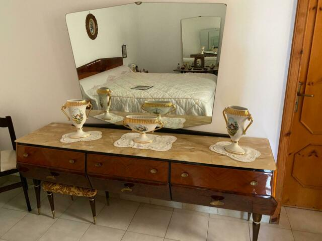 2 specchiere in legno e marmo