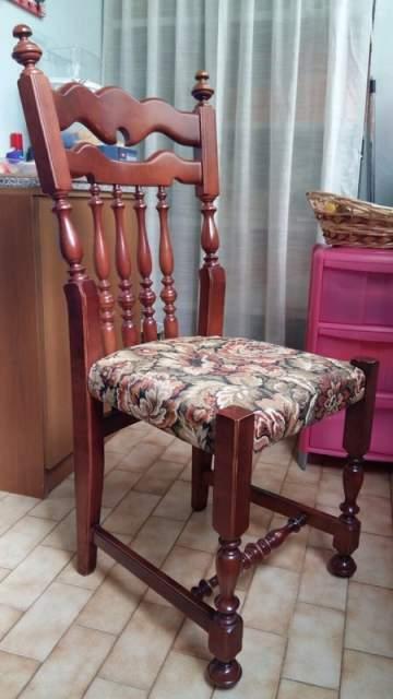 6 sedie anni '70 in legno massello di ciliegio