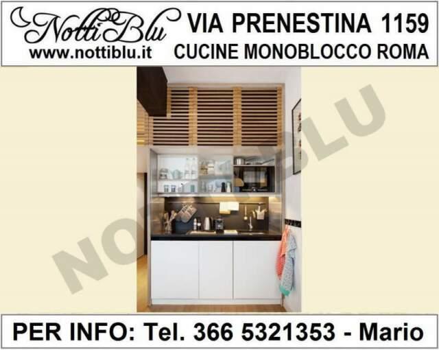 Cucine Monoblocco a Scomparsa Roma - Cucina Notti Blu SE115