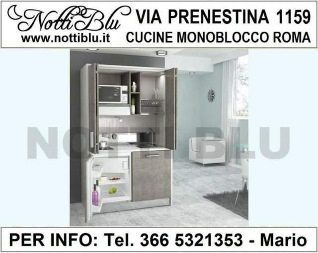 Cucine Monoblocco a Scomparsa Roma - Cucina Notti Blu SE117