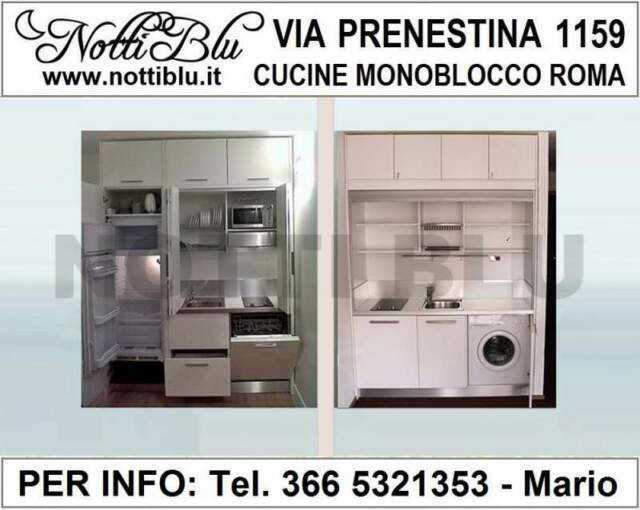 Cucine Monoblocco a Scomparsa Roma - Cucina Notti Blu SE122