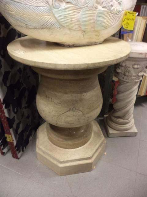 basi in marmo bianco per tavolo - h. 74cm