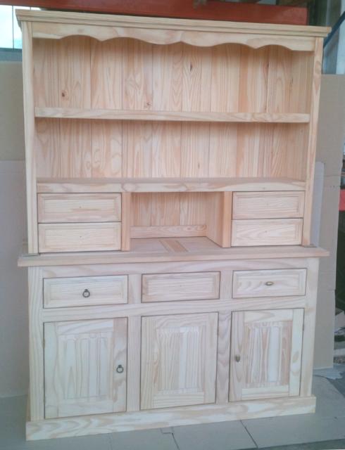 Credenza 3 porte napoletana in legno massello naturale di