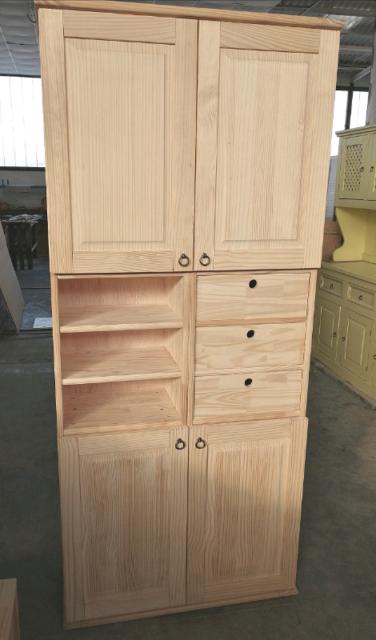 Mobile dispensa o ripostiglio In legno massello naturale