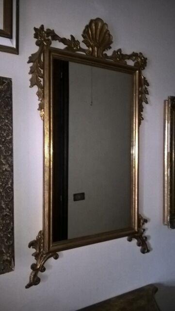 Specchiera con consolle in legno stile barocco