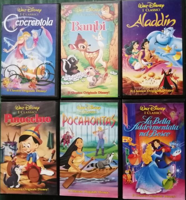 VHS originali Walt Disney