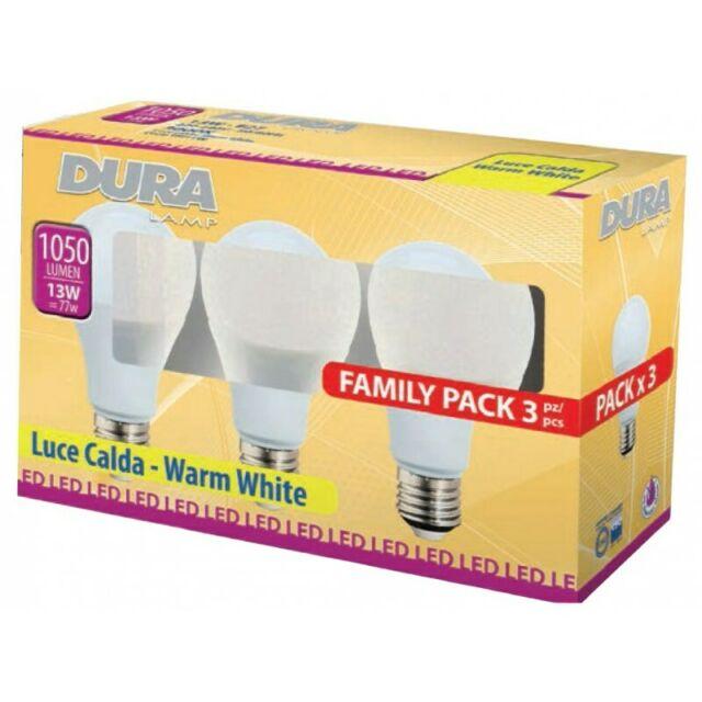 DURALAMP - LED SET 3 GOCCIA 13WE27-L.K CALDA -