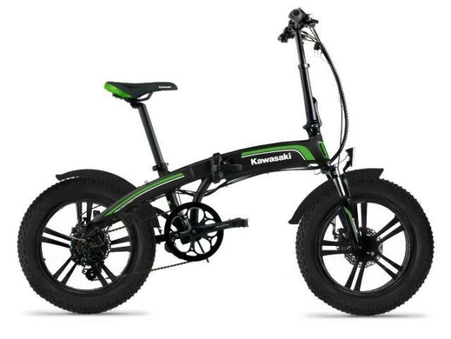 Bicicletta Elettrica Pieghevole fat bike E-Bike KAWASAKI
