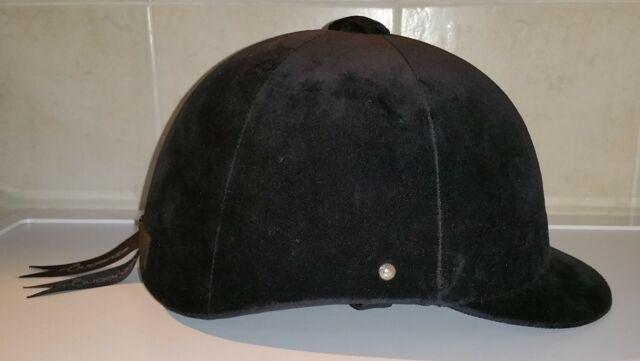 Cap equitazione C400 velluto nero taglia 55 cm