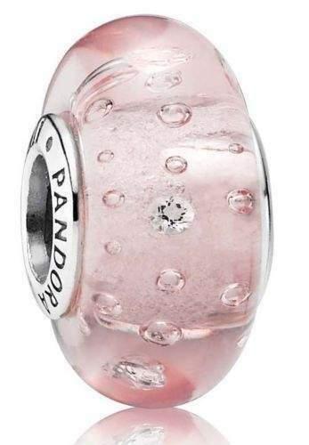 Pandora Originale cz Charm MURANO Bolle Frizzanti rosa