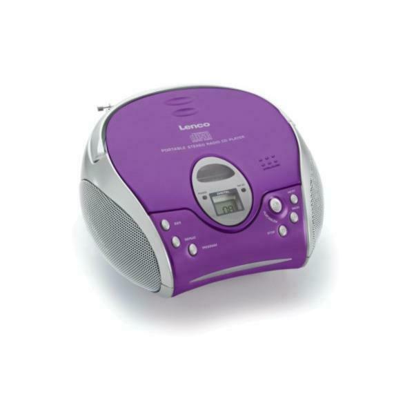 Lenco SCD-24 Portable CD player Porpora, Argento