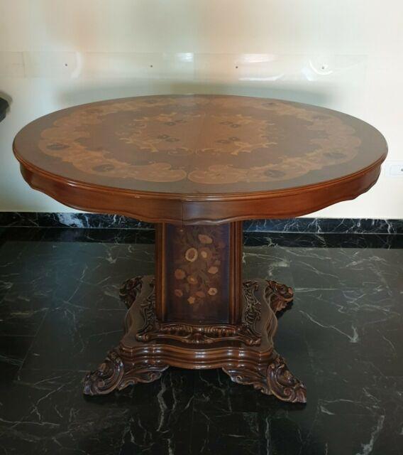 Regalo Tavolo intarsiato in legno con 4 sedie