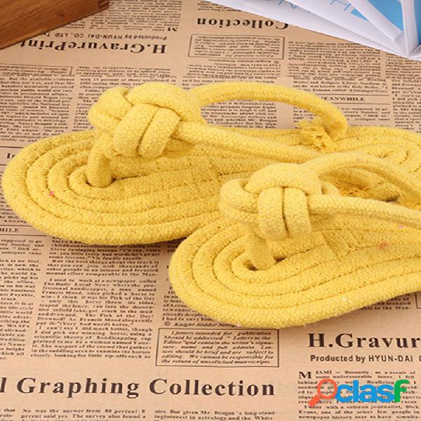 1pcs Pet Toys Pantofole intrecciate in corda di cotone Candy