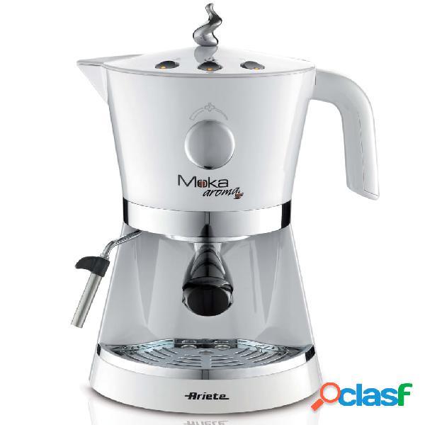Ariete Macchina per Caffè Espresso Moka Aroma 850 W Bianco