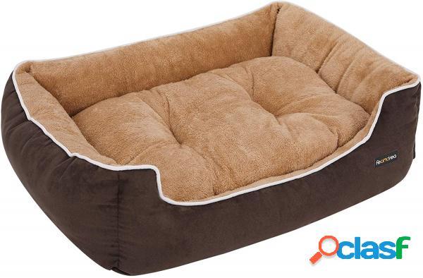 Cuscino Cuccia Lettino Dog di Pelliccia Beige e Brown Taglia