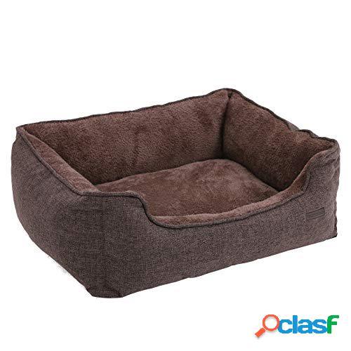 Cuscino Cuccia Lettino di Pelliccia Brown Cani Taglia M