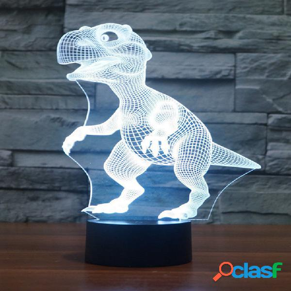 Dinosaur 3D LED illusion Night Light 7 Cambia colore Touch