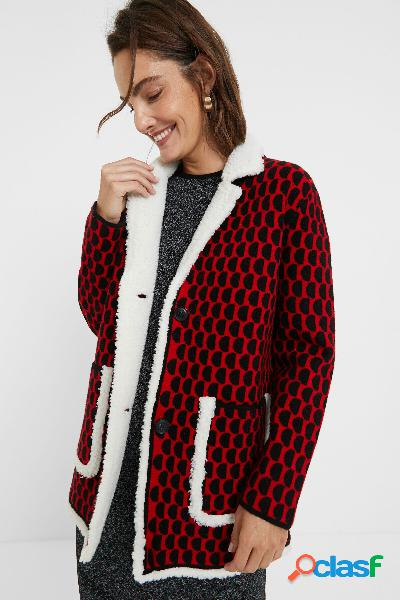 Giacca tricot sherpa - RED - S