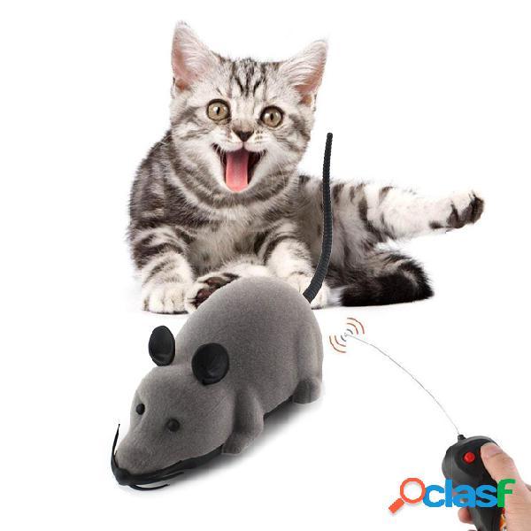 Giocattoli creativi per gatti Elettronico remoto Mouse di