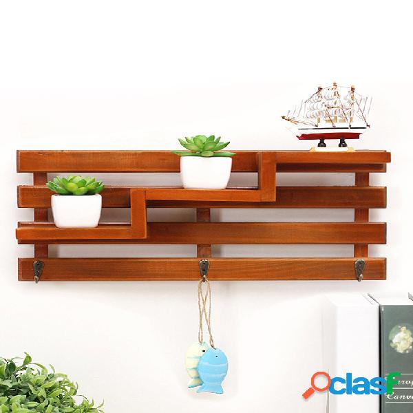 Mensole a muro vintage Display Mensola in legno Scaffale