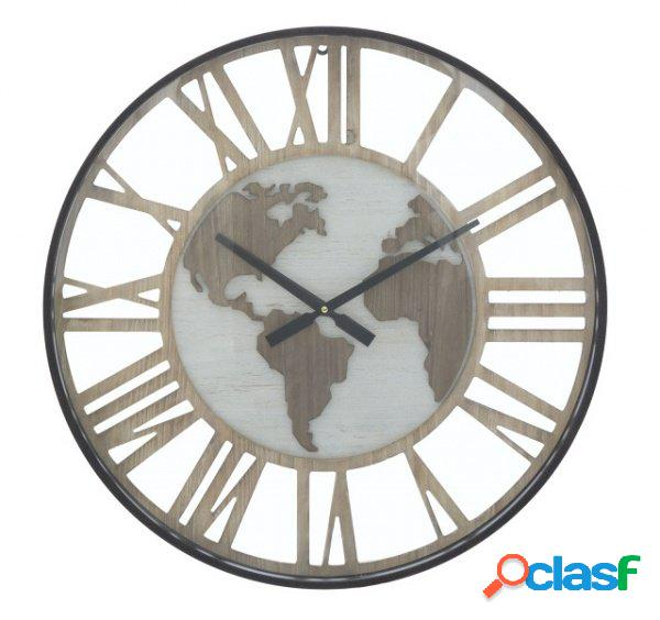 Orologio Maxi da Parete Numeri Romani e Continenti