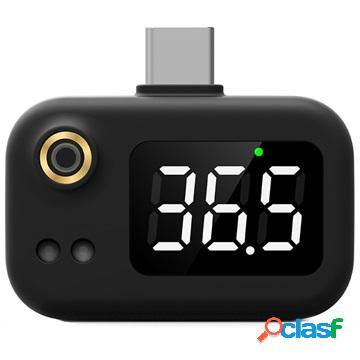 Portable Mini USB-C Intelligent Thermometer - Black