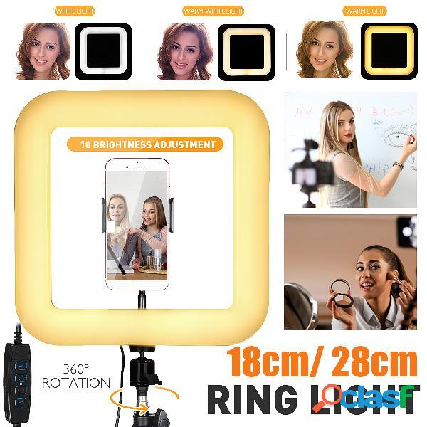 Quadrato LED Anello luminoso Live Beauty Selfie Lights Porta