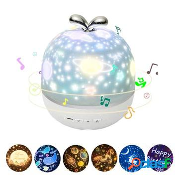 Rotary Starlight LED Projector & Music Box with 6 Animations