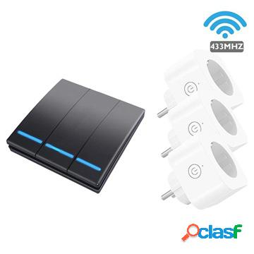 Smartul WHK-D07 Wireless Smart Outlet and Switch Set - Black