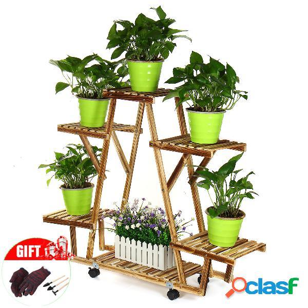 Supporto per piante in legno Display Supporto per piante