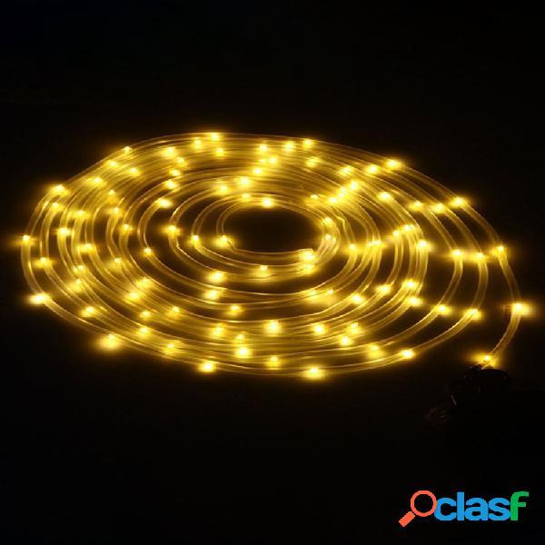solare Alimentato 12 M 100 LED Rame Luce a filo fata