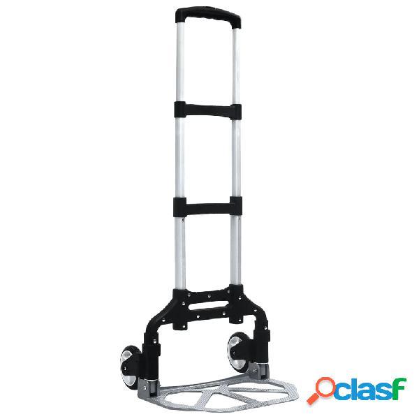vidaXL Carrello di Trasporto Pieghevole 70 kg in Alluminio
