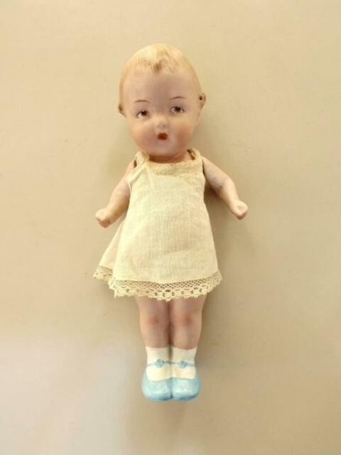 Bambola antica Heubach bebè character bisqut primi 900 cm