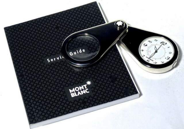 MONTBLANC orologio/sveglia Travel Timepieces, lente ingrand.