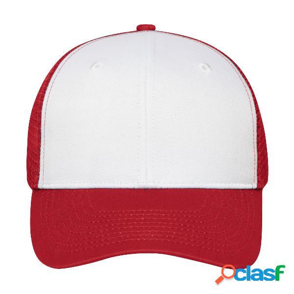6 PANEL MESH CAP 65%P 35%C
