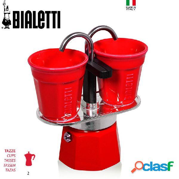 Bialetti Set Mini Express Rossa Caffettiera Moka 2 Tz