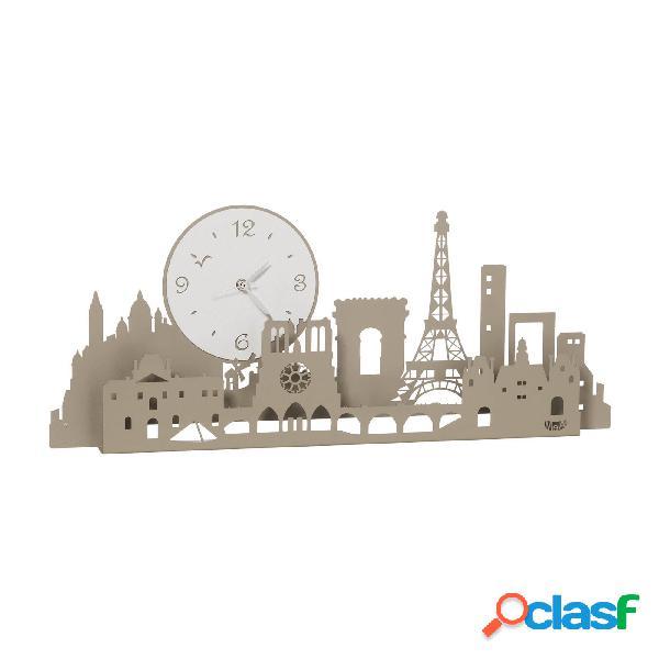 Orologio con Tour Eiffel Paris city in metallo, colore