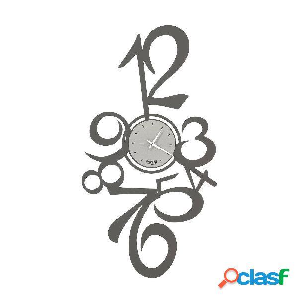 Orologio da parete con numeri grandi Calypso in metallo,
