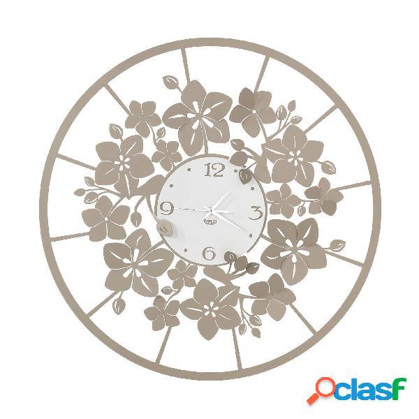 Orologio da parete floreale Fior di Loto in metallo,
