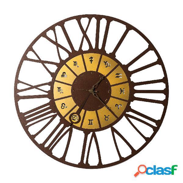 Orologio da parete moderno zodiac grande in metallo,