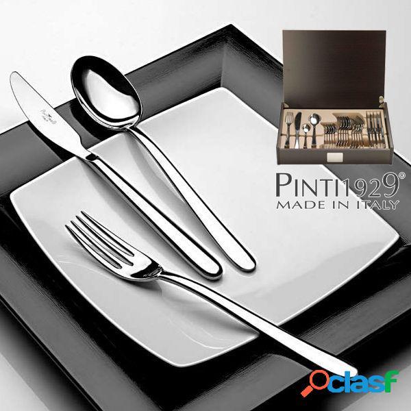 Pinti Privilege Servizio Posate 24 Pezzi Bauletto Legno