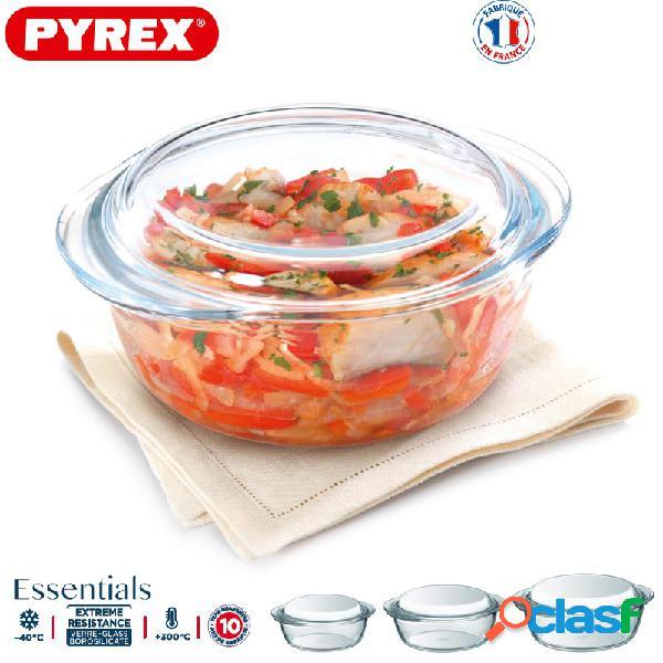 Pyrex Essentials Set 3 Casseruola Tonde C/coperchio Vetro