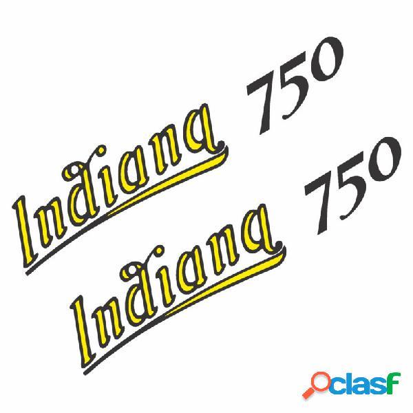 SET 4 ADESIVI PRESPAZIATI SCRITTA INDIANA 750 COMPATIBILE