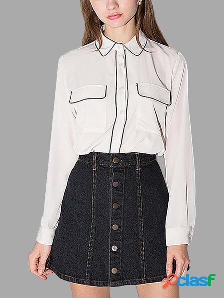 Yoins Camicia bianca con colletto per bambola Sweet