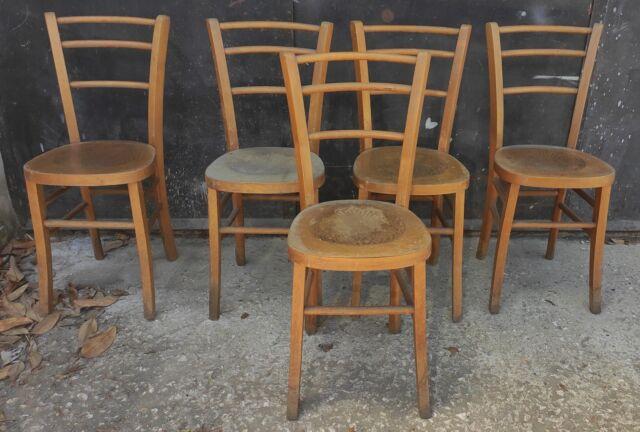 """5 sedie antiche in legno tipo """"Milano"""" Volpe di Udine"""