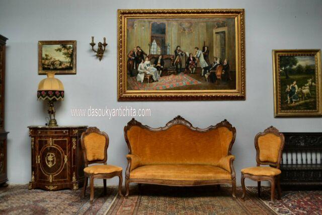 Antico Salotto con coppia di sedie Stile Luigi Filippo